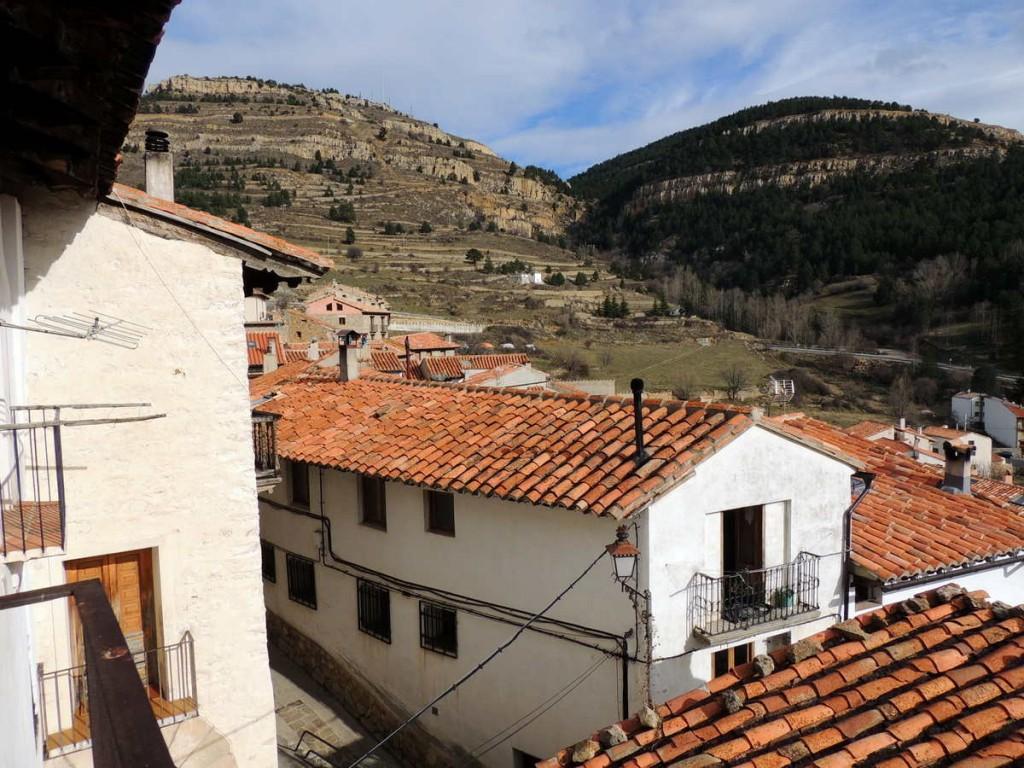 Vistas desde el comedor de la Casa Rural Palacio en Linares de Mora