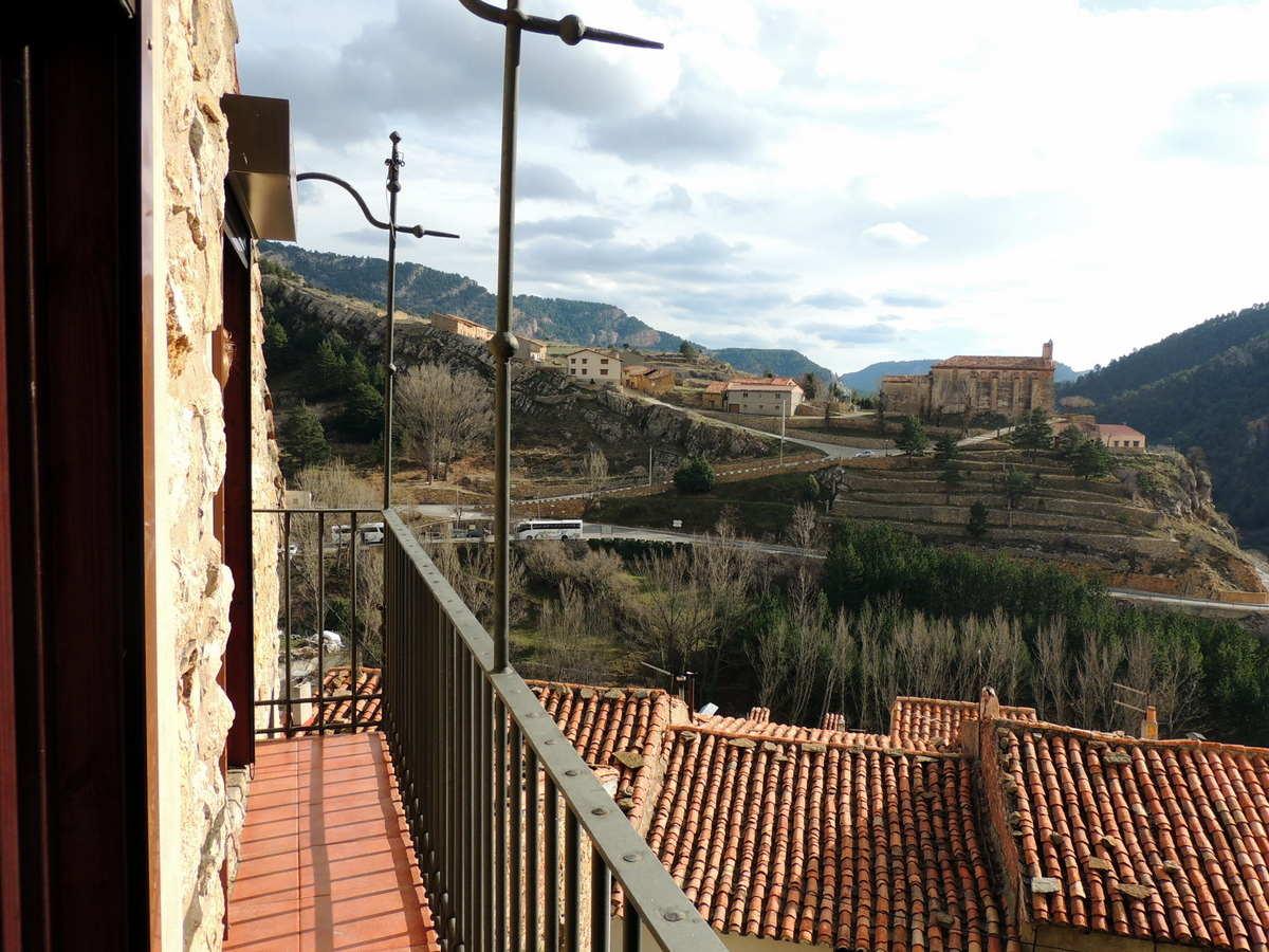 Vistas desde el balcón de la habitacion matrimonio casa rural Palacio