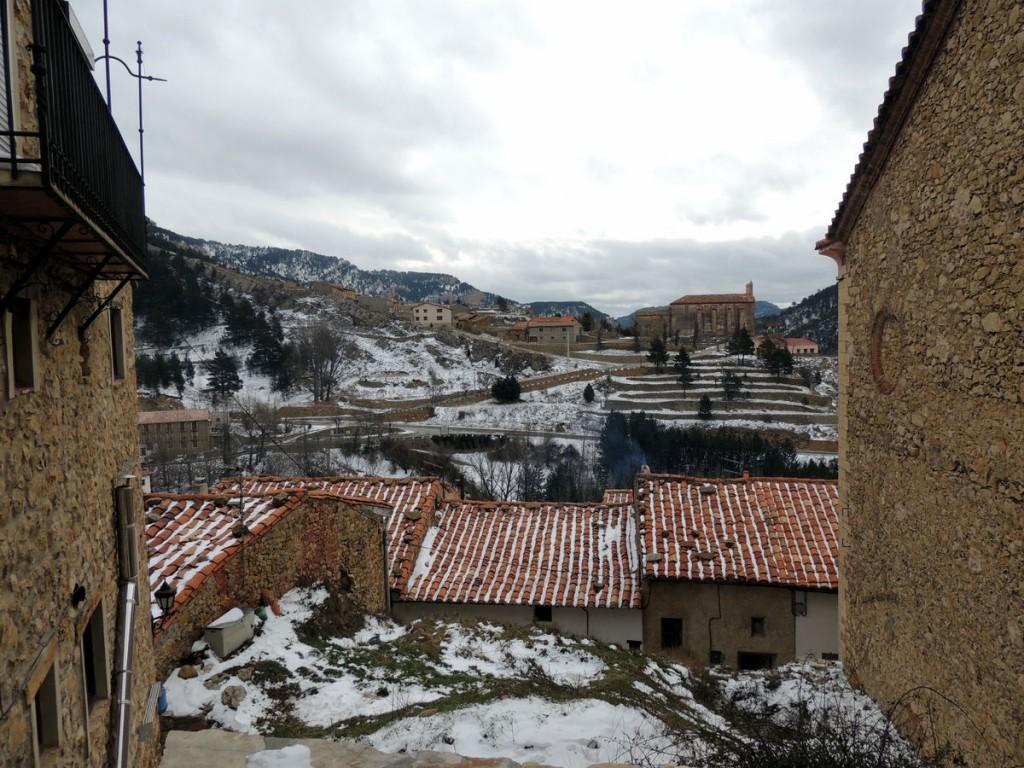 Vistas de Linares de Mora desde la Casa Rural Palacio